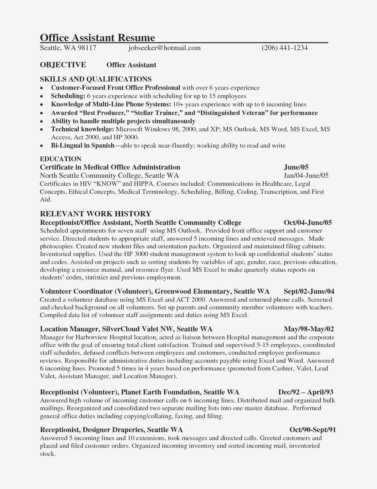 30 Assistant Manager Resume Sample Medical Assistant Resume