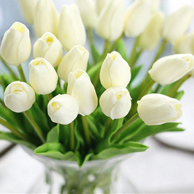 31pcs/lot Tulips Artificial Flowers PU artificial bouquet Real touch flowers For Home Wedding decorative flowers & wreaths