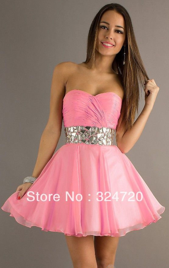 damas dresses pink ruffles | 2014-new-gorgeous-pink-short-organza ...