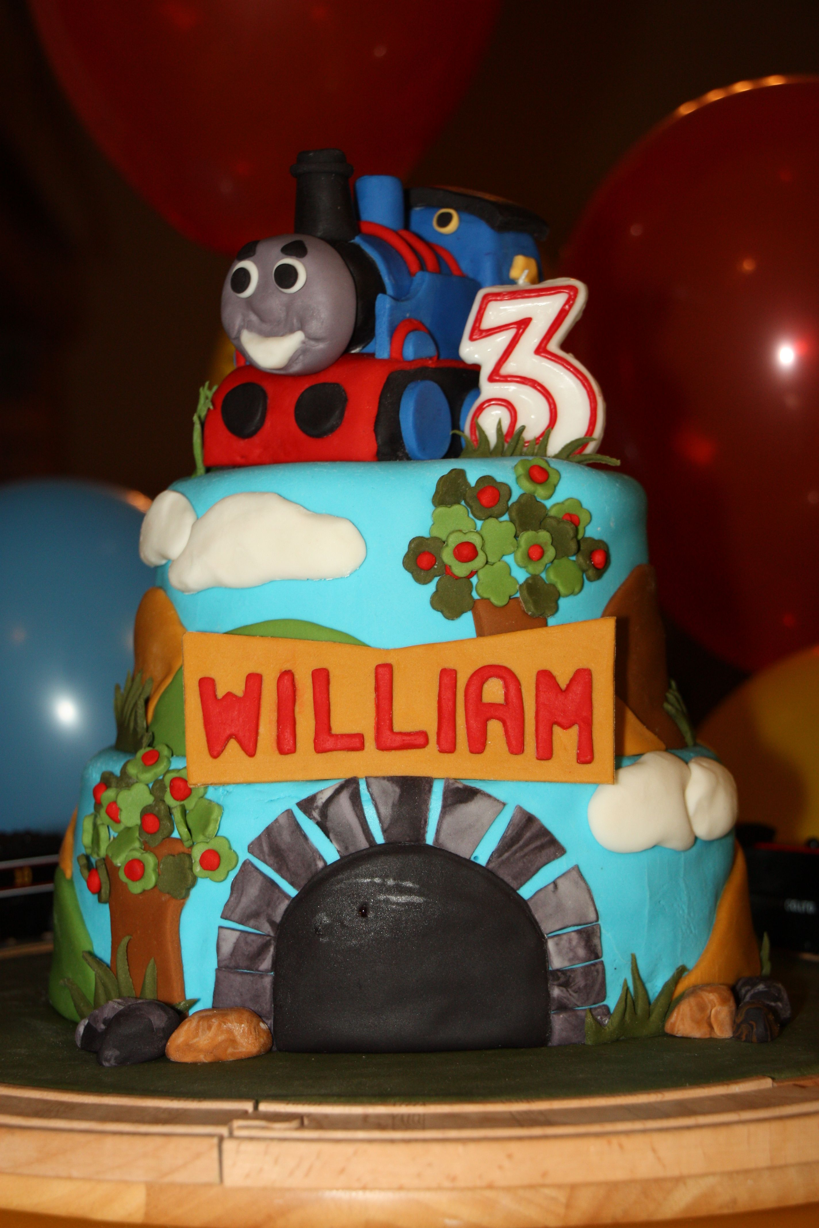 thomas the tank engine cake for a 3 year old birthday boy! this was
