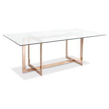"""Check out this item at One Kings Lane! Cooper Steel 79"""" Dining Table, Rose Gold"""