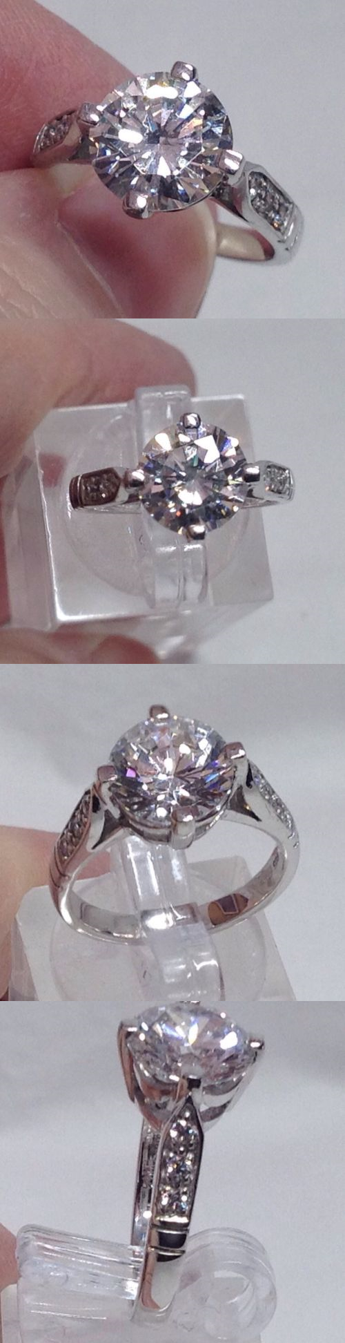 Other Fine Rings 177030: Qvc Sterling Silver 3 Carat Diamonique Ring With Accents Size 6 -> BUY IT NOW ONLY: $42.75 on eBay!