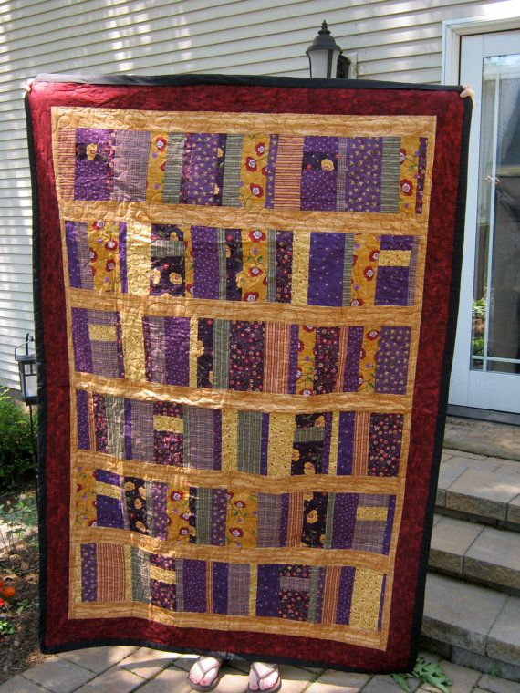 Book shelf quilt by DinysAttic on Etsy, $130.00