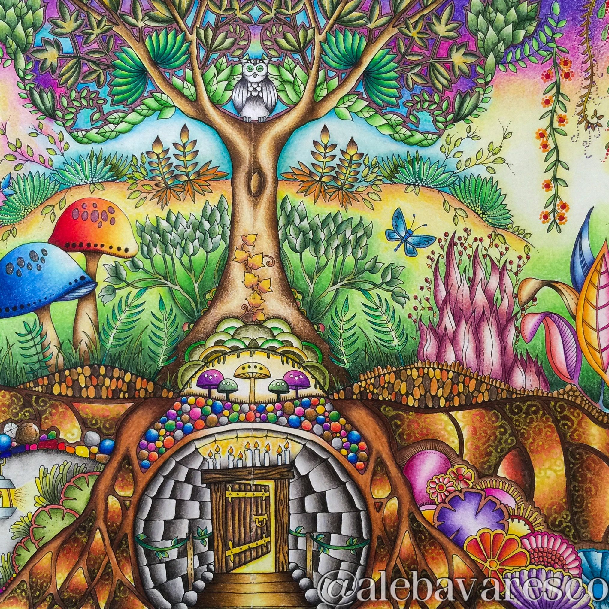 Johanna Basford On Instagram Amazing Colouring Skills By Alebavaresco I Make Enchanted Forest Coloring Enchanted Forest Coloring Book Forest Coloring Book