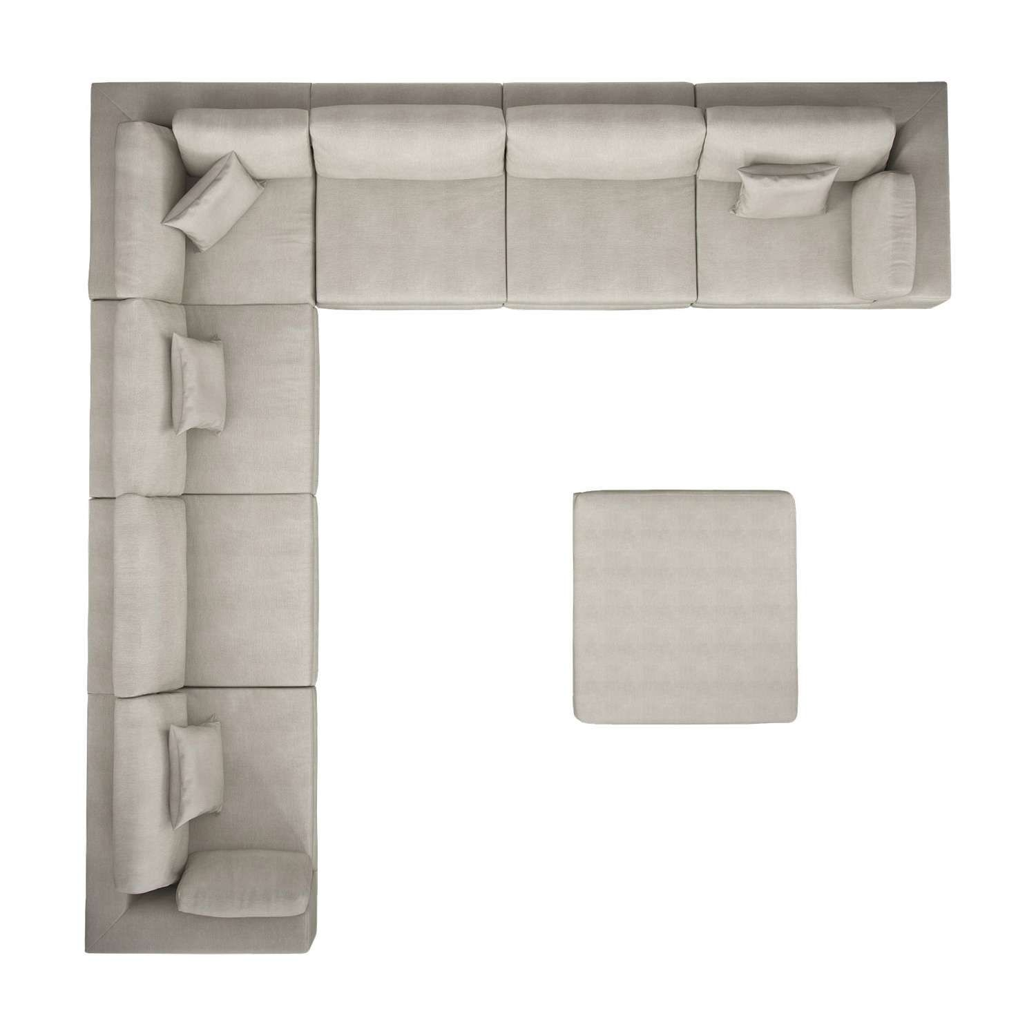 Perry Preconfigured Large Corner Sectional Sofa In 2019 Top View