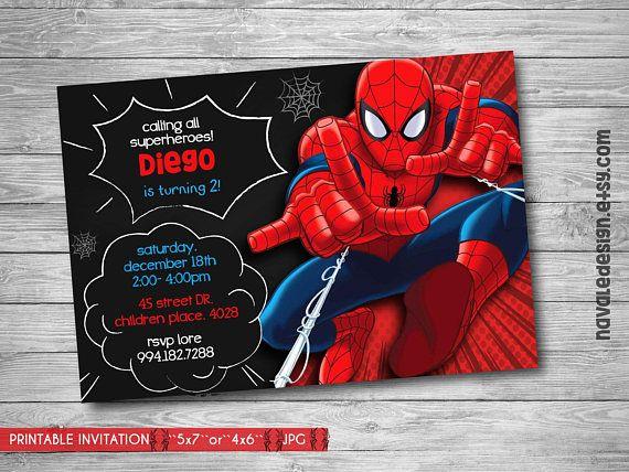 Spiderman Invitación Invitación De Cumpleaños De Spiderman