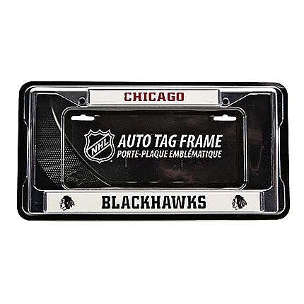 Chicago Blackhawks Chrome Licence Plate Tag Frame for Car//Auto