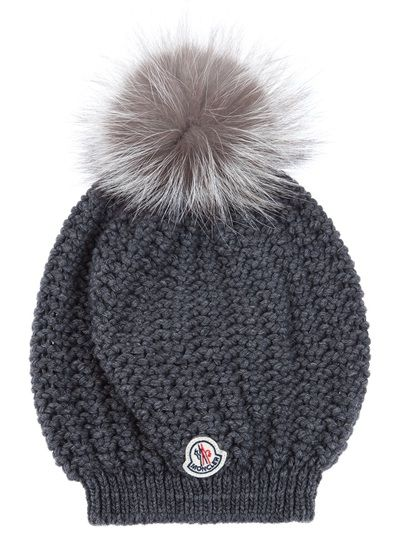 66ee9534ead MONCLER - Fox Fur Pom Hat