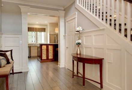 Craftsman home interiors on pinterest craftsman interior for Craftsman house interior