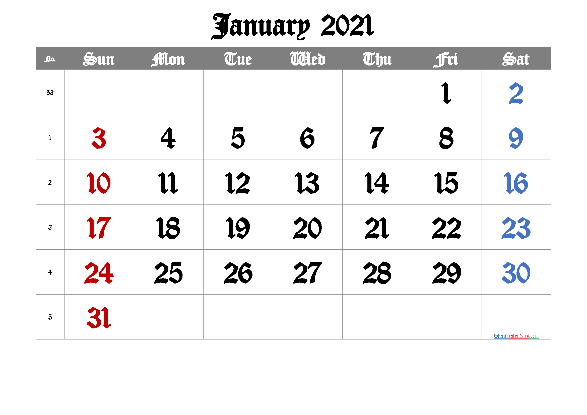 Free Printable January 2021 Calendar Premium In 2020 Calendar Printables August Calendar Printable Calendar