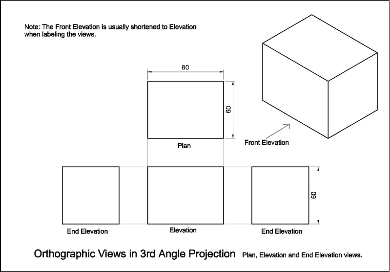 Plan And Front Elevation Of A Solid Shape : Image result for axonometric drawing tutorial d tech