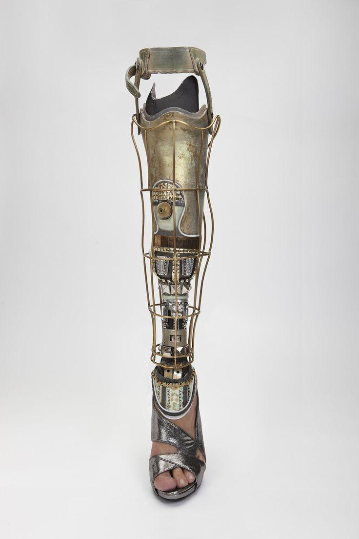 front of retro futuristic leg photographed by Omkaar Kotedia