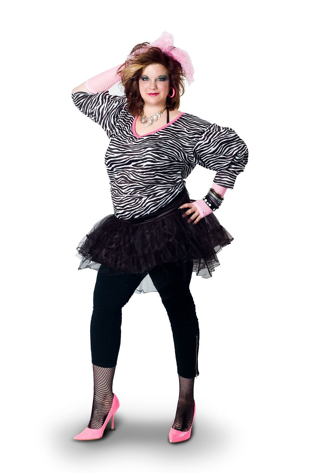 6cc27775f8 Sunnywood Women s Plus-Size Lava Diva Hip Hop 80 s Costume
