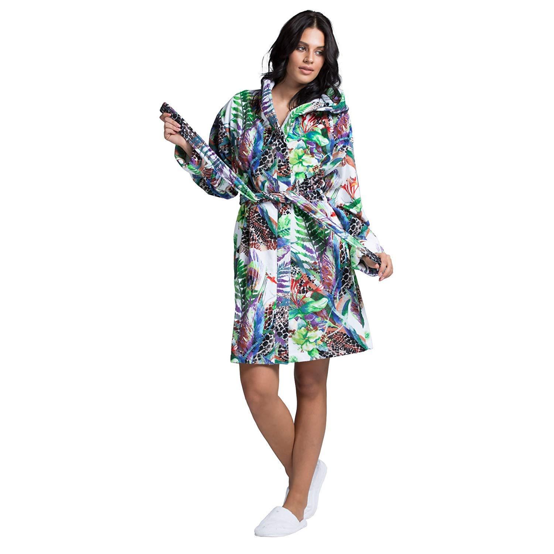 cfa11776b6 Minteks Luxury Bath Robe Women s Hooded Lightweight