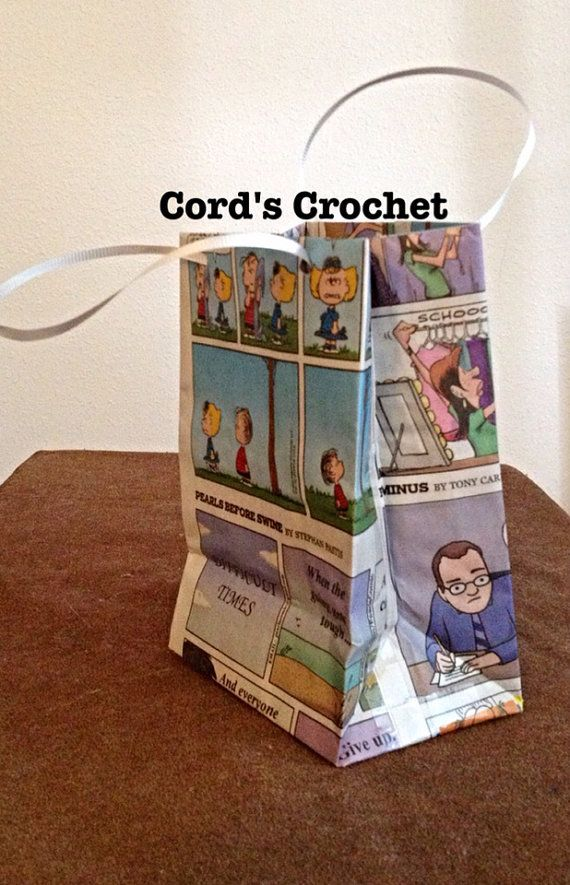 Upcycled Comics Gift Bag (5 count) on Etsy, $10.00
