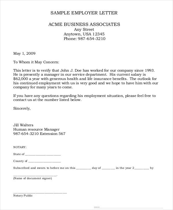 Appointment Verification Letter Confirmation Sample Employment