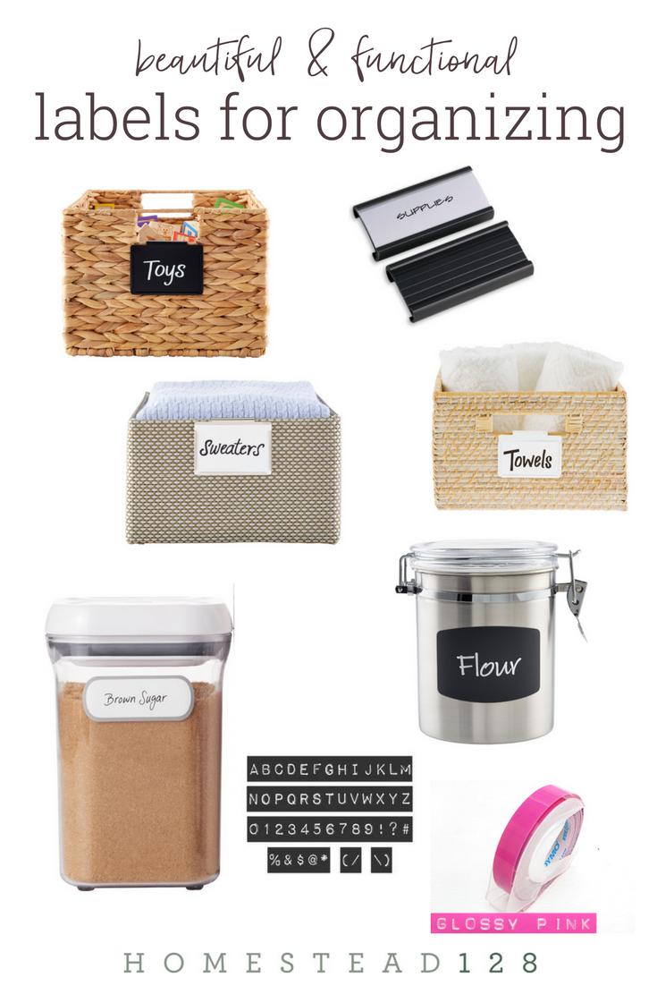 Best Labels For Organizing The Home Homestead 128 Best Label Maker Organization Basket Labels