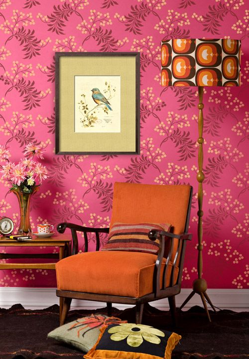large allover wallpaper stencil@Molly White | House of the Rising ...