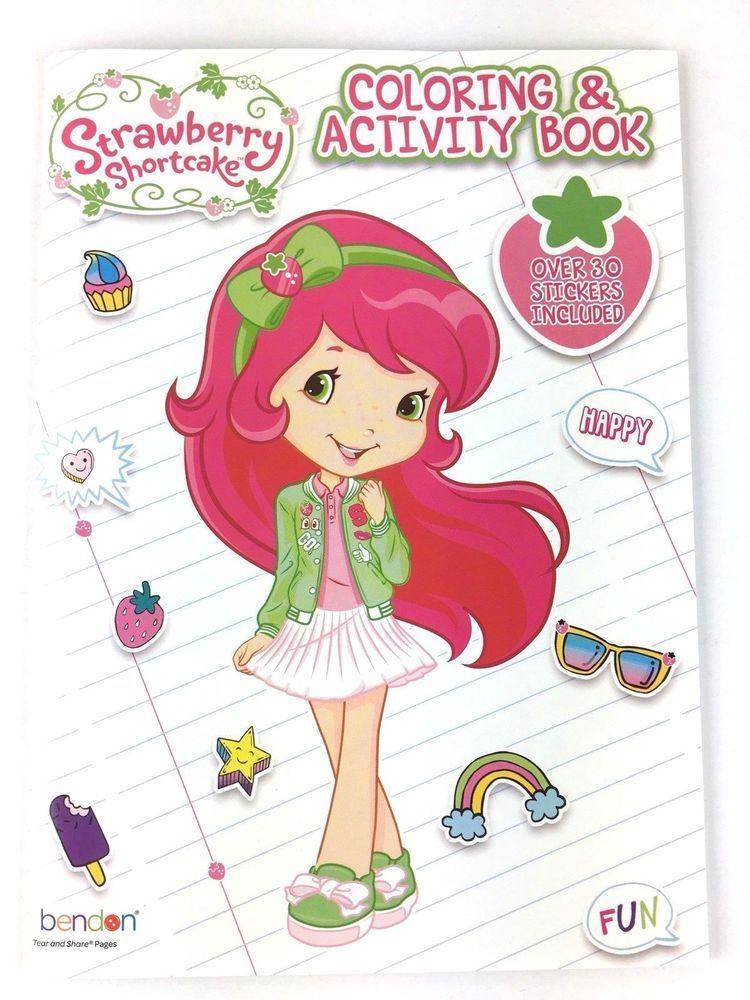 Strawberry Shortcake Coloring & Activity Book Over 30 Stickers Included In  2021 Strawberry Shortcake Cartoon, Baby Girl Clipart, Strawberry Shortcake  Doll