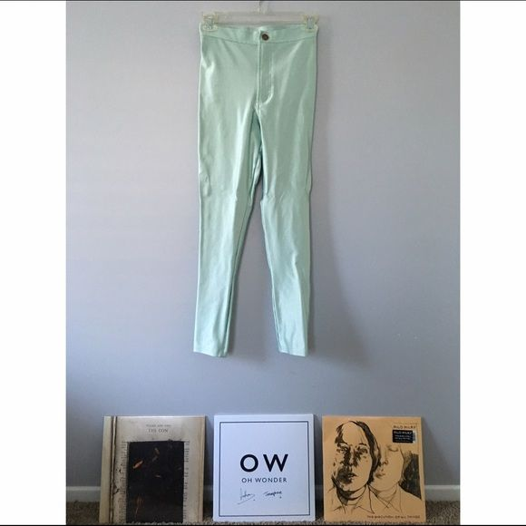 American Apparel disco pants These pants are curve hugging and oh so flattering. Mint color. American Apparel Pants