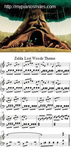 Zelda Lost Woods Theme Jpg 243 510 Pixels Legend Of Zelda Sheet Music Zelda