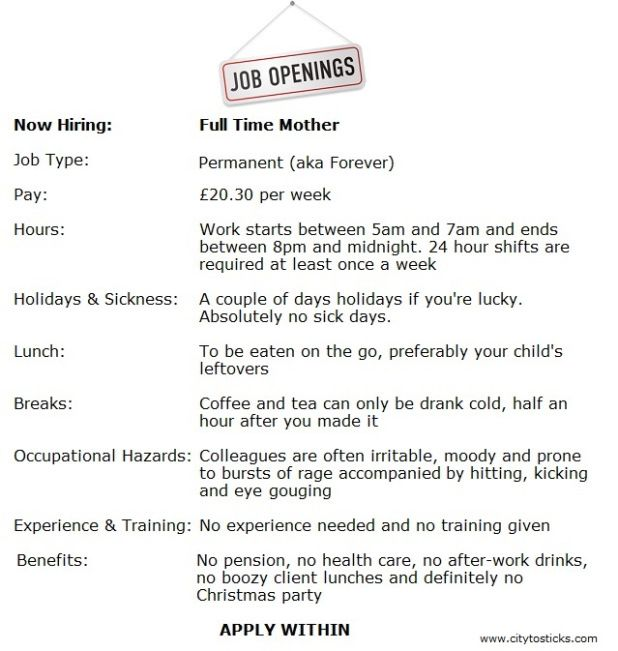 Job description stay at home mom funny pictures.