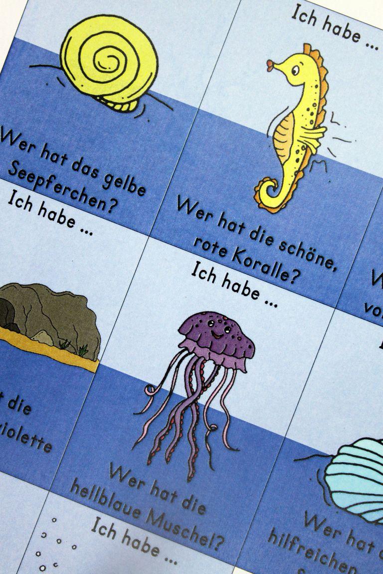 """Lesespiel """"Der Regenbogenfisch"""" (mit Bildern"""