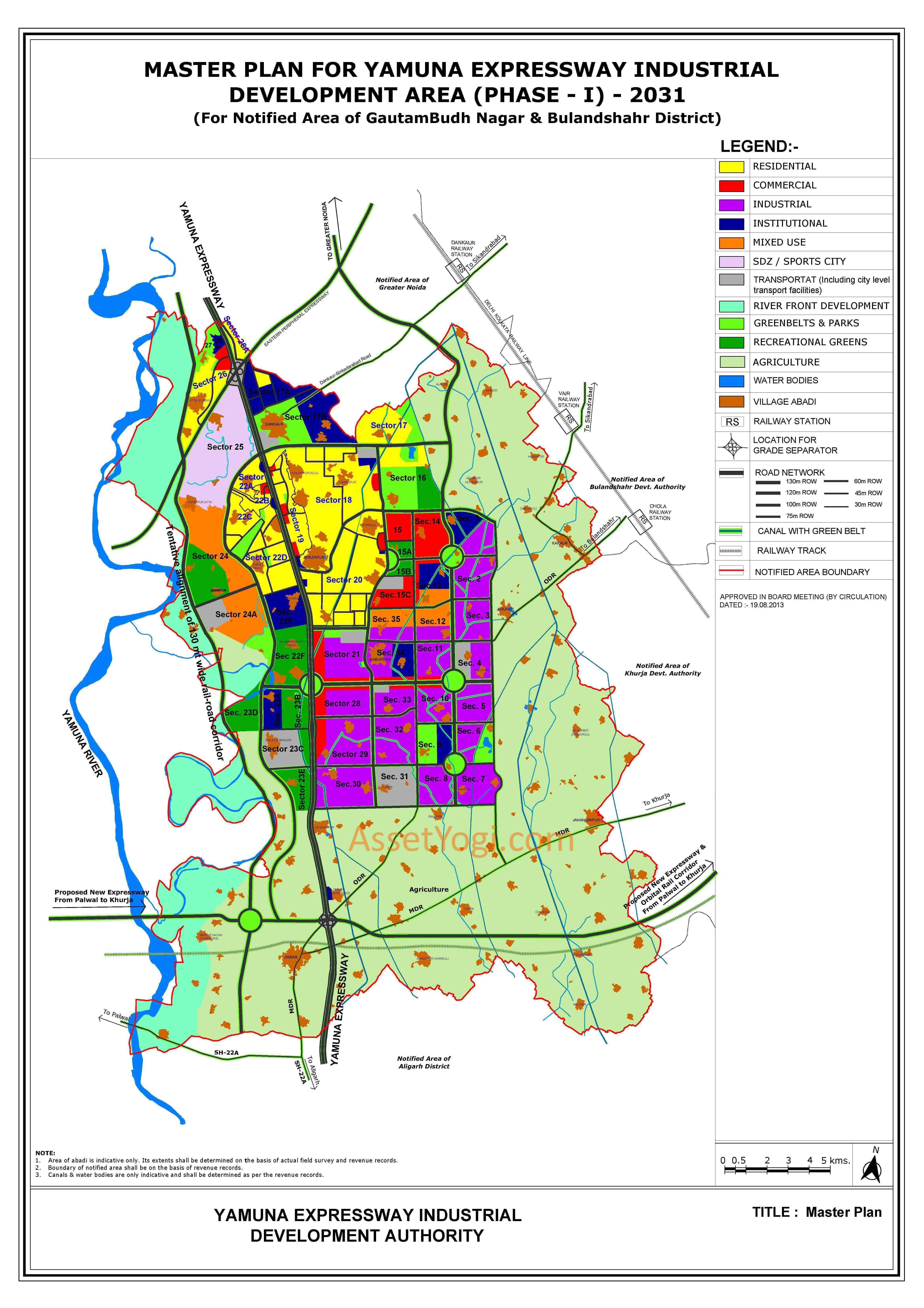 Yamuna Expressway Master Plan 2031, 2021 & Map & Summary! Download  Yamuna