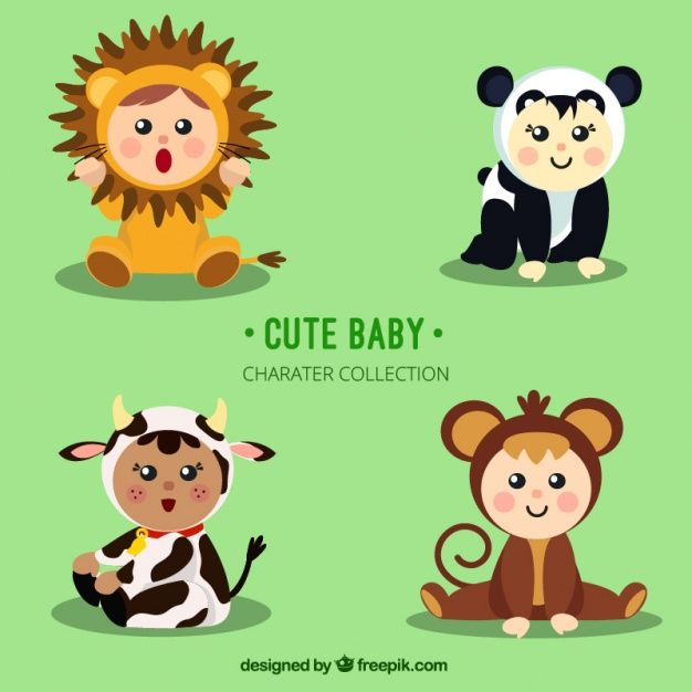 Download Adorable Children With Animal Costumes For Free Animal Costumes Baby Zoo Animals Cute Baby Animals