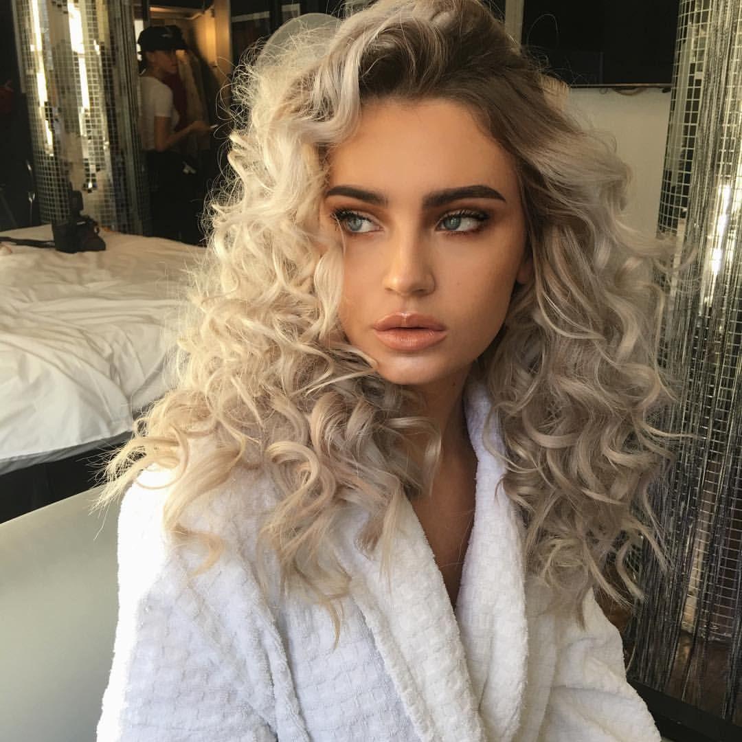 Curly Platinum Blonde Hair Pinterest Axtuba Instagram