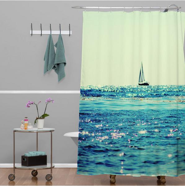 6 Perfect Ocean Shower Curtains for Summer   Beach shower curtains ...