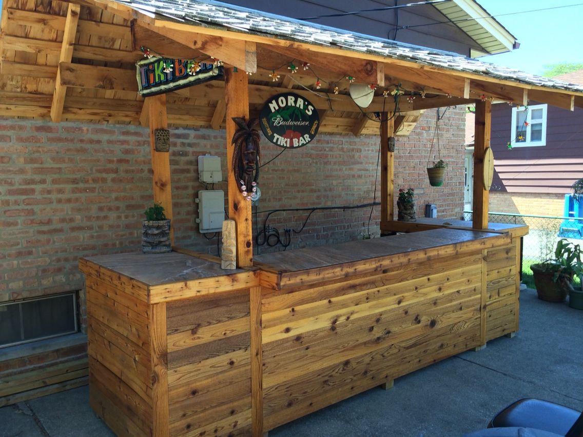 My homemade backyard Tiki Bar | Tiki bar | Pinterest