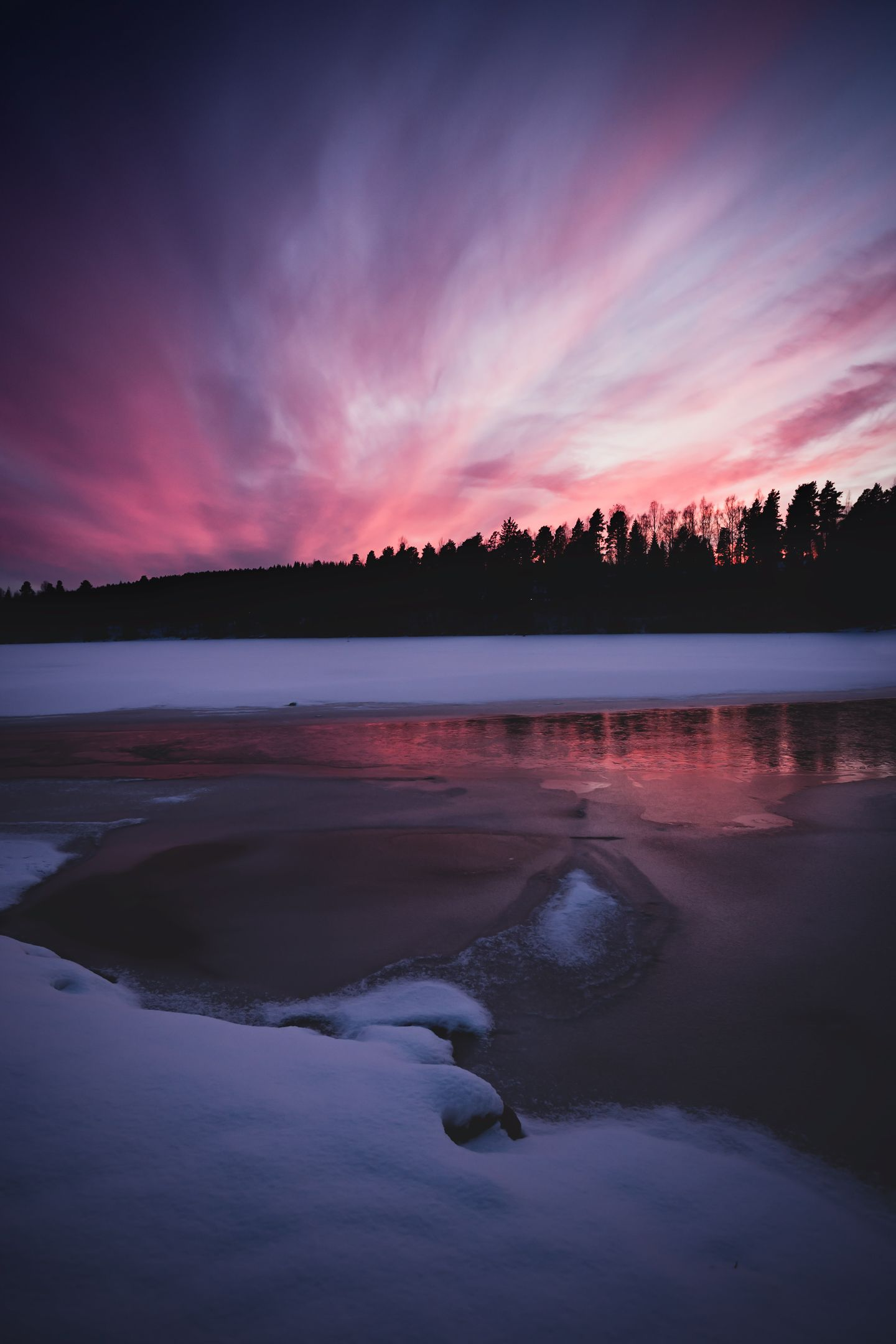Pin On Beautiful Mother Earth Nature Traveller Wallpaper sunset lake ice evening sky