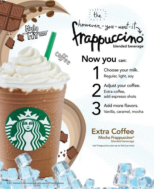 Frappuccino Starbucks However You Want It Frappuccino