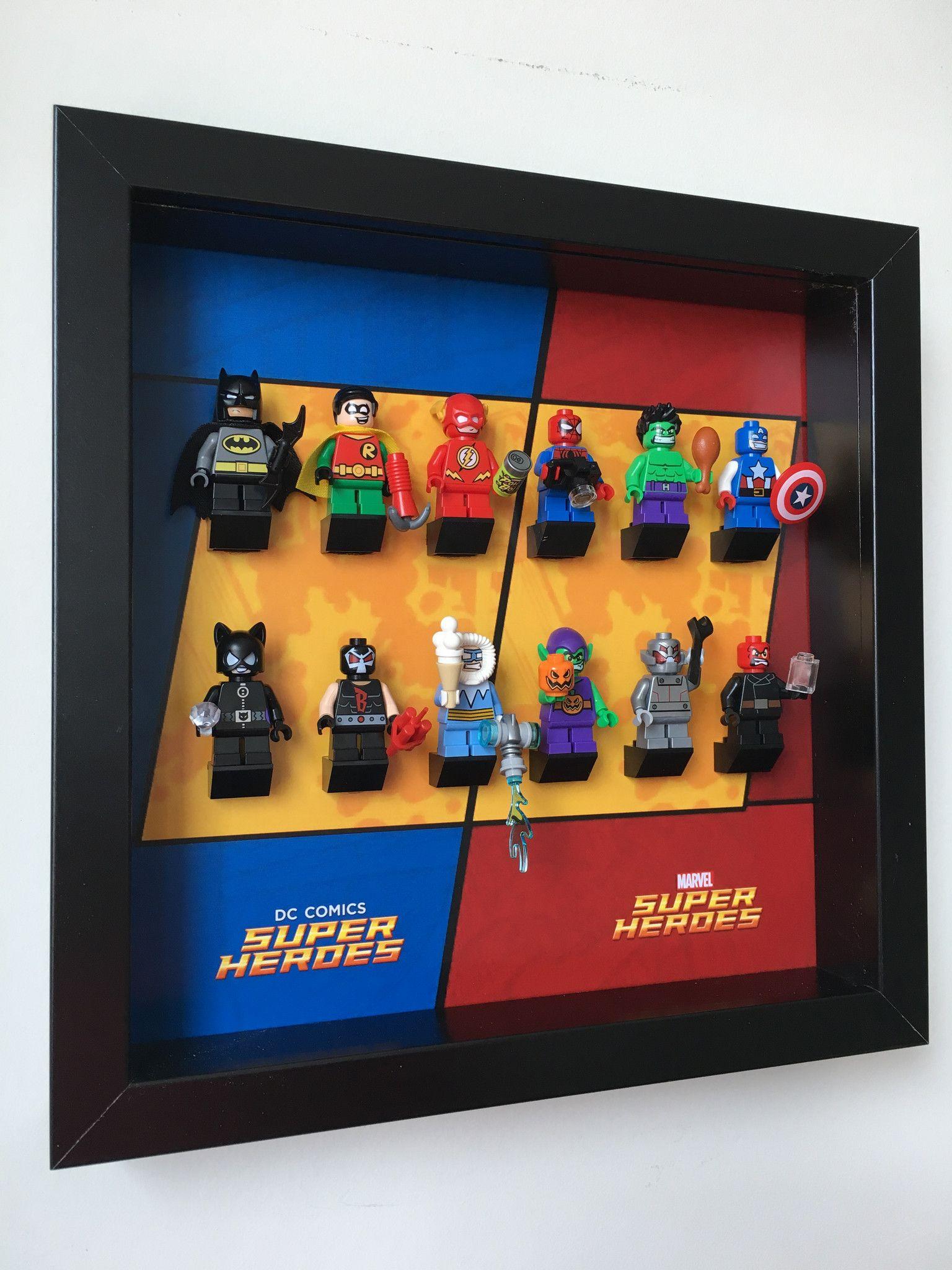 Frame DC Super Heroes Series LEGO Minifigures Display Case