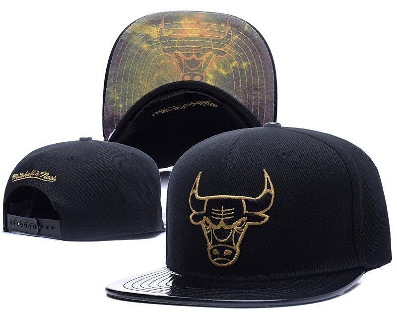 8373148ff43 Men s Chicago Bulls Mitchell   Ness Galaxy Under Visor Snapback Hat - Black    Black