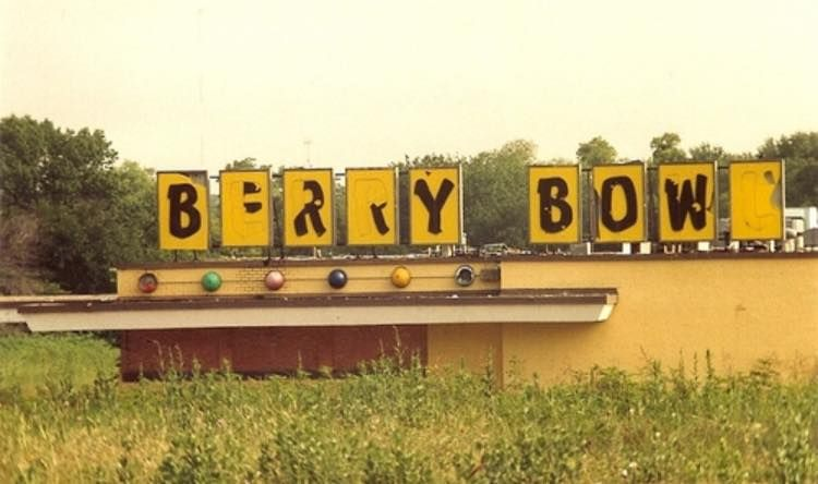 Sign from Fort Worth's old Berry Bowl!  My cousin was shot
