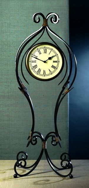 Genial Dessau Home Iron Scroll Floor Clock   W384 | Hierro Forjado | Pinterest |  Clocks And Iron