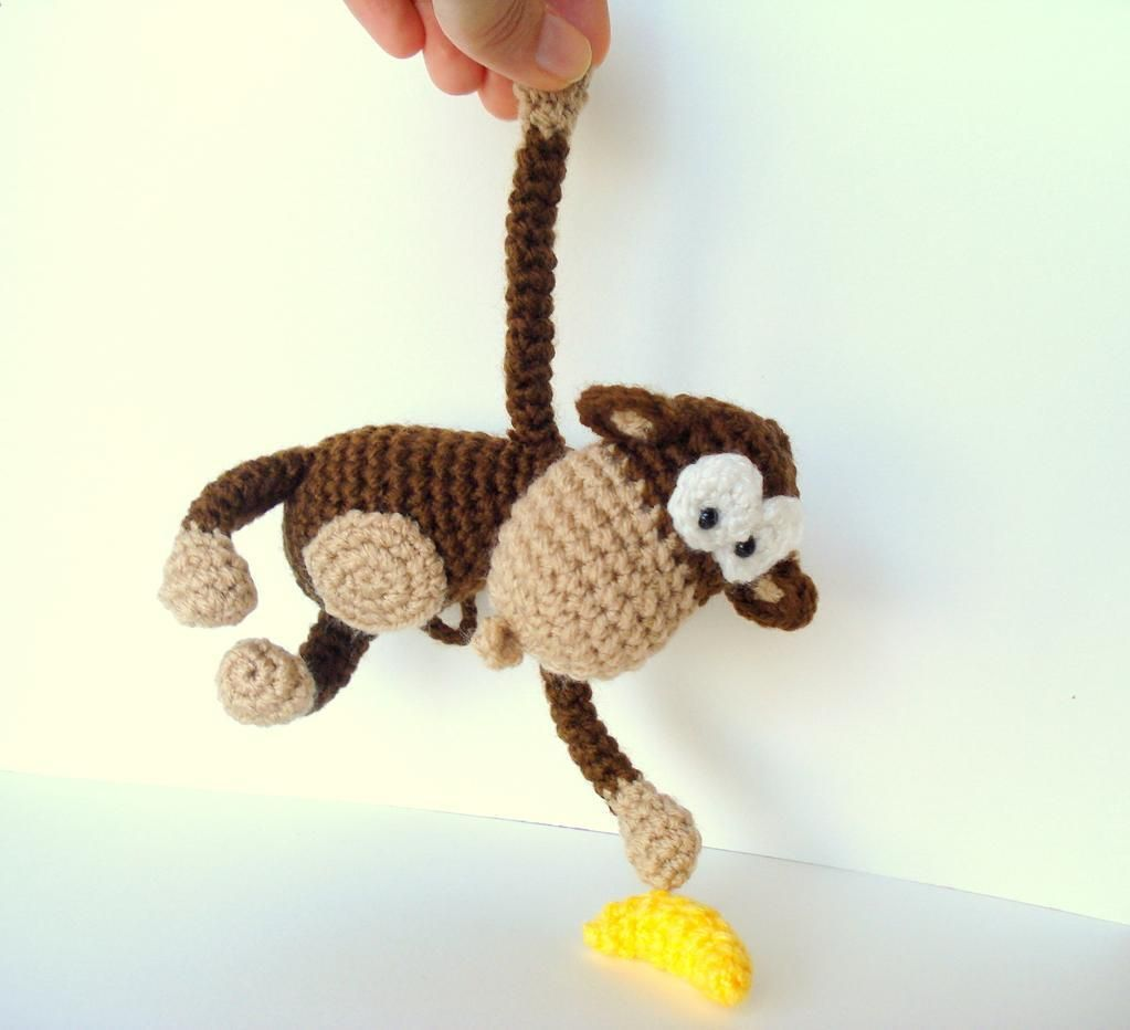 Amigurumi Monkey Pattern with Banana | Häkeln, Amigurumi und Affen