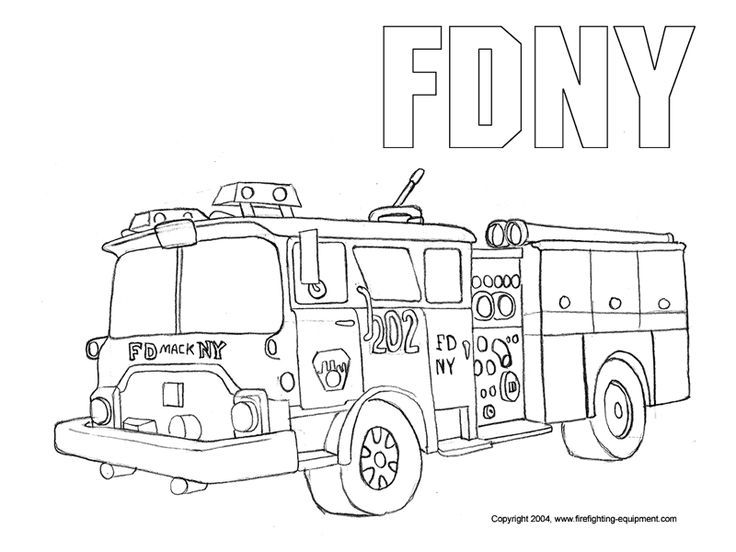 FDNY Fire Truck Coloring Pages Free Printable
