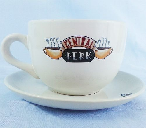 Friends Central Perk Cup Saucer Tv Show Series Set 20 Ounce Large Coffee Mug