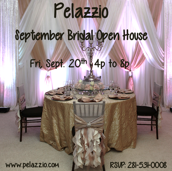 This month's #OpenHouse will be this Friday, September 20th from 4pm to 8pm. Please RSVP by calling us at 281-531-0008 or sending us an email to reservations@pelazzio.com Hope to see you here!  www.pelazzio.com