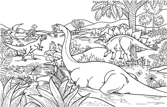 Dinosaurs Coloring Page Free Printable Coloring Pages Dinosaur Coloring Pages Dinosaur Coloring Jungle Coloring Pages