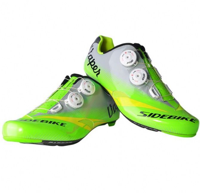 MTB Cycling Shoes Men Professional Road Bicycle Ultralight Sports Sneakers Green
