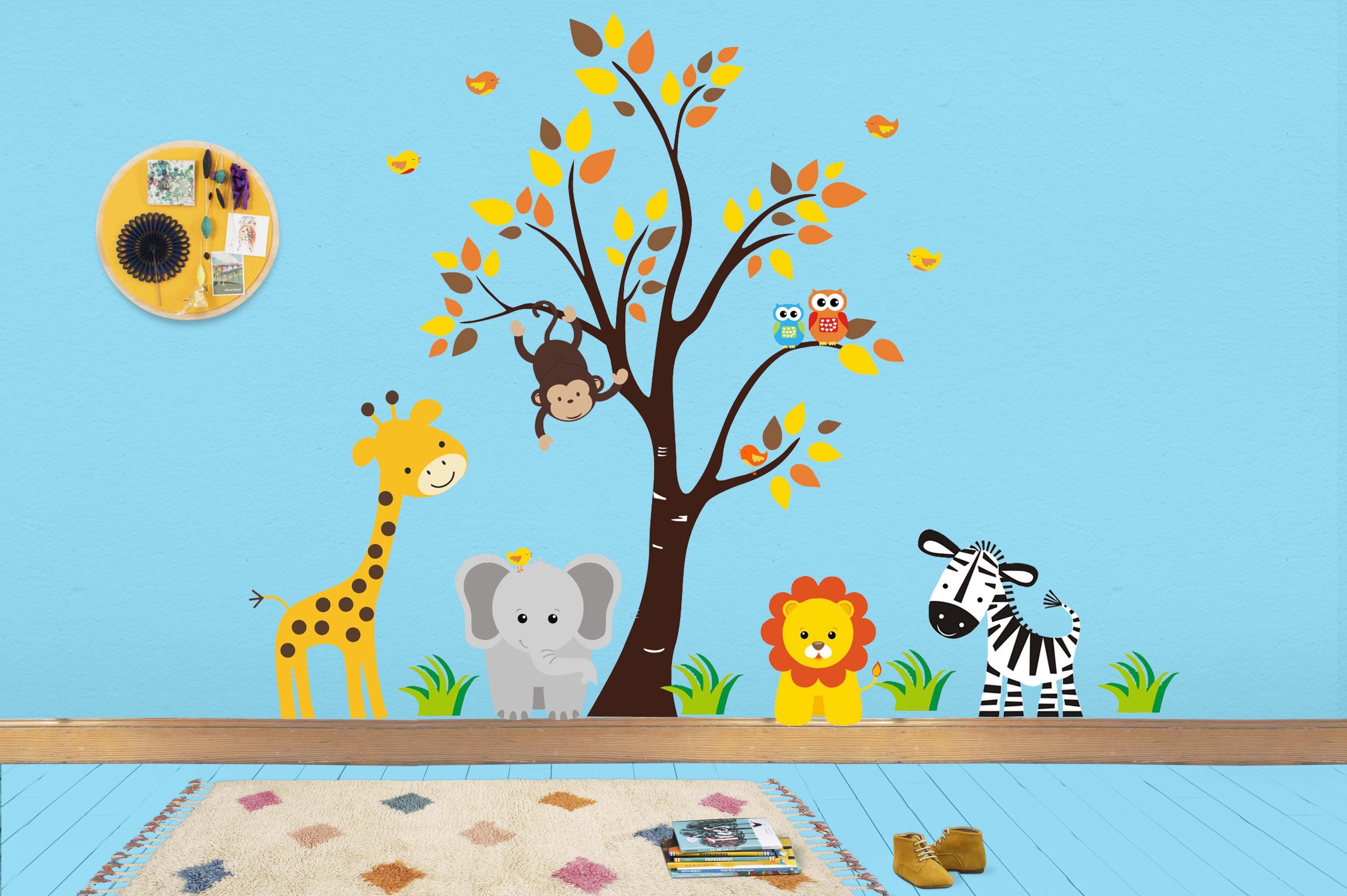 Jungle Wall Stickers Safari Wall Decals Nursery Murals Baby