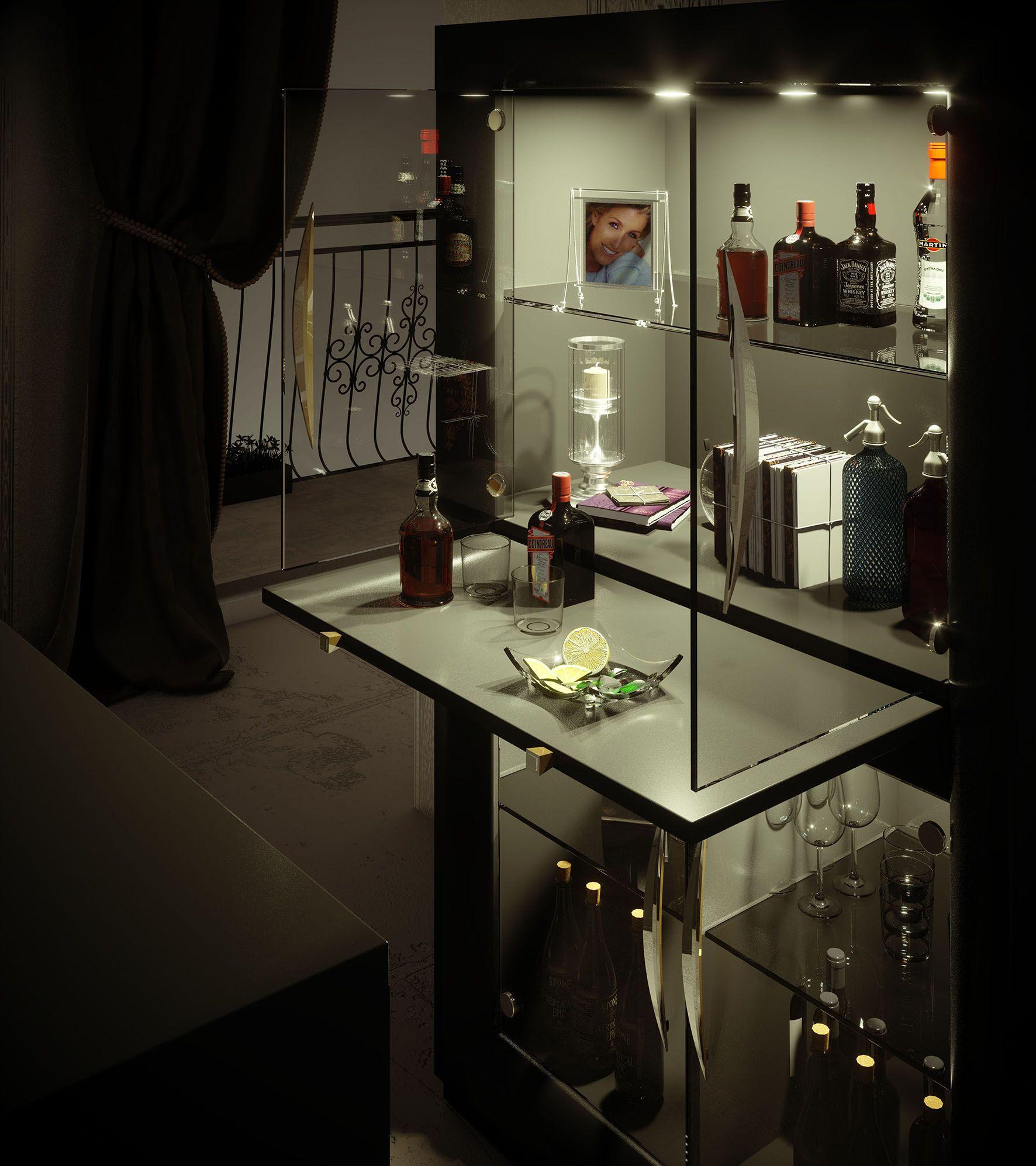 Barras de Bar Casa   Muebles de Salón y Dormitorio.   Angolo bar ...
