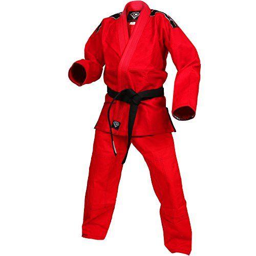 KO Sports Gear/'s Red Pearl Weave Gi BJJ Kimono and Pants For Jiu Jitsu