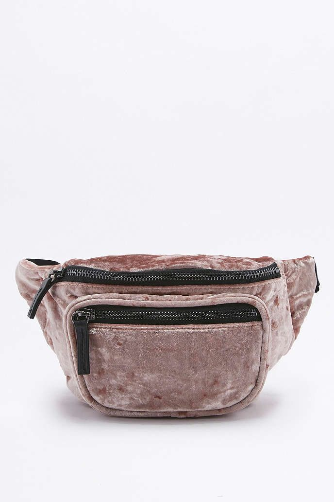 Pink Velvet Bum Bag - Urban Outfitters   TrendSettaBaby   Bags, Bum ... d4fbe5118f1