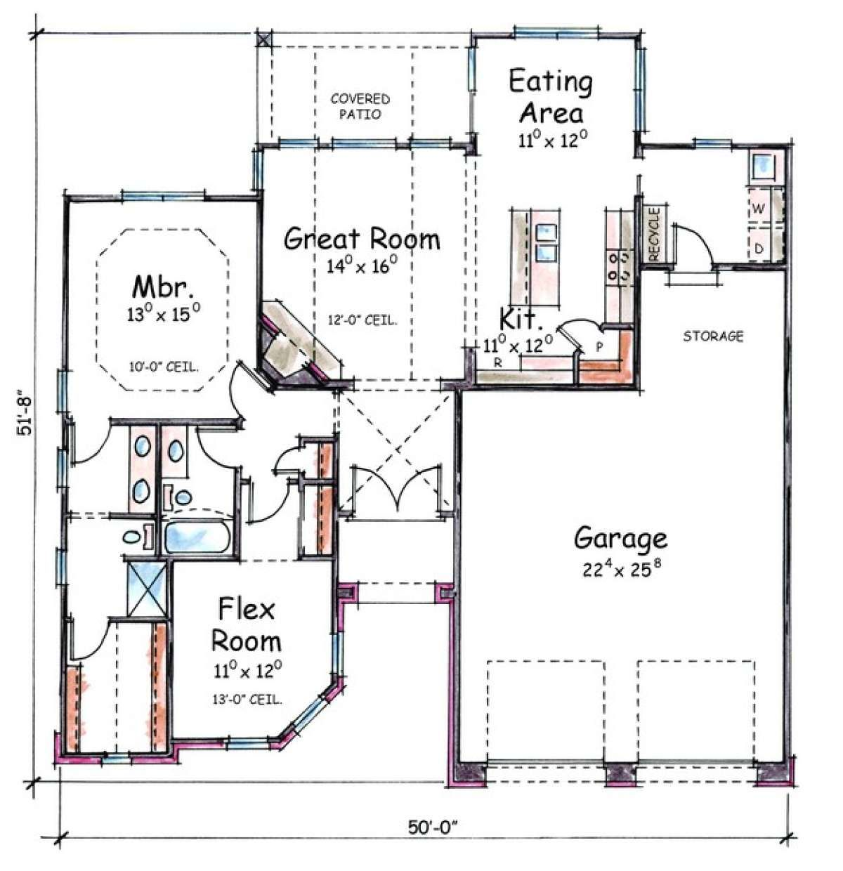 House Plan 402 01064 European Plan 1 339 Square Feet 2 Bedrooms 1 Bathroom In 2020 House Plans House Floor Plans Bungalow Design
