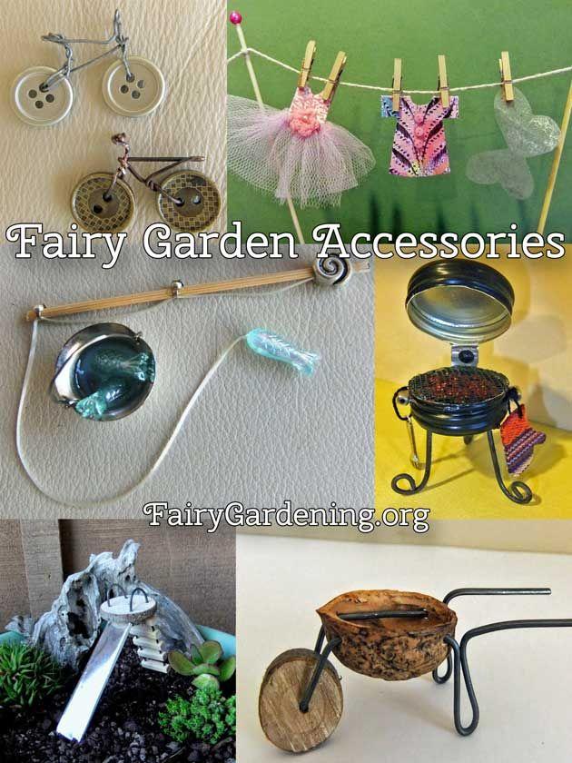 Fairy Garden Accessories Fairies Diy Doors Gnomes